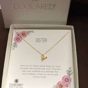 NIB Dogeared Sister Necklace